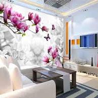 ĐẸP- SANG TRỌNG – ĐỘC ĐÁO với gạch 3D ốp tường phòng khách